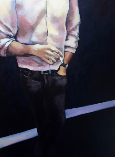 Men talk I 2015 oil on canvas 80x60