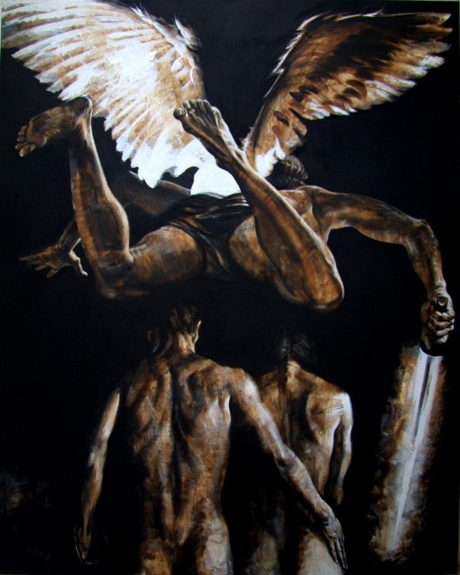 Expulsion from Paradise, 2015, 200x160cm Acrylic, canvas