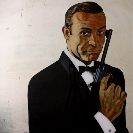 SEAN CONNERY, 2013, 100x100cm Acrylic on organic glass
