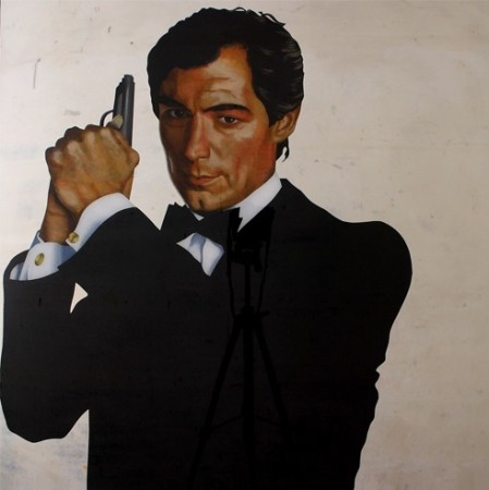 TIMOTHY DALTON, 2013, 100x100cm Acrylic on organic glass