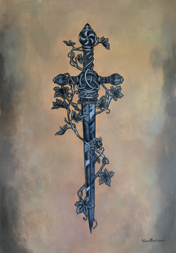 DAGGER   Oil, acrylic on canvas. 116 x 89 cm, 2017
