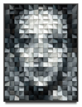 Lucy_geometrical.portrait.triangle_82x62cm.varnish.on.wood